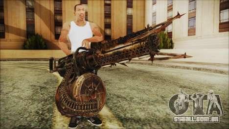 Fallout 4 Shredding Minigun para GTA San Andreas terceira tela