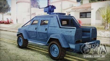 GTA 5 HVY Insurgent Pick-Up IVF para GTA San Andreas esquerda vista