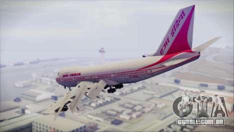 Boeing 747-237Bs Air India Rajendra Chola para GTA San Andreas esquerda vista