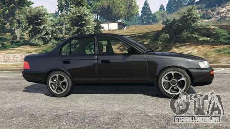 GTA 5 Toyota Corolla 1.6 XEI [black edition] v1.02 vista lateral esquerda