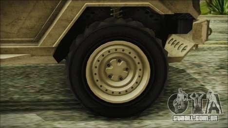 GTA 5 HVY Insurgent Van para GTA San Andreas traseira esquerda vista