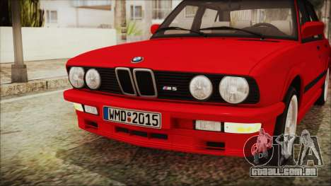 BMW M5 E28 1988 para GTA San Andreas vista interior
