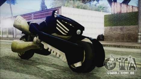 FF7AC Bike para GTA San Andreas traseira esquerda vista