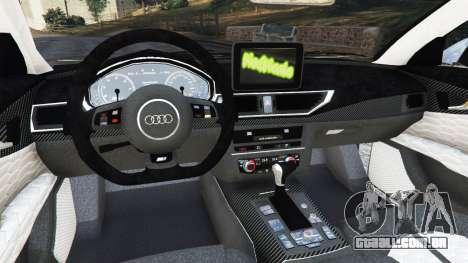 GTA 5 Audi RS7 2016 vista lateral direita
