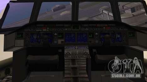 GTA 5 Cargo Plane para GTA San Andreas vista traseira