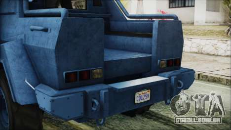 GTA 5 HVY Insurgent Pick-Up IVF para vista lateral GTA San Andreas