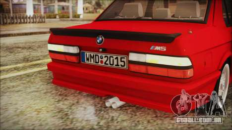 BMW M5 E28 1988 para GTA San Andreas vista superior