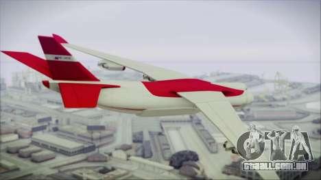 GTA 5 Cargo Plane para GTA San Andreas esquerda vista