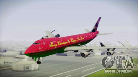 Boeing 747-100 Merry Christmas and Happy NY para GTA San Andreas
