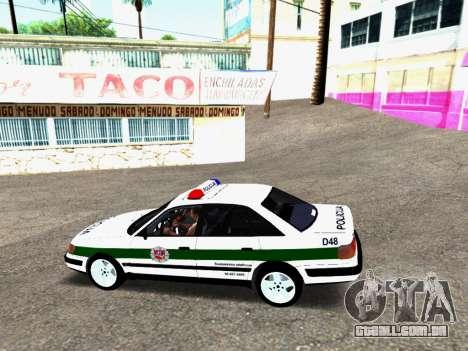 Audi 100 C4 1995 Police para GTA San Andreas traseira esquerda vista