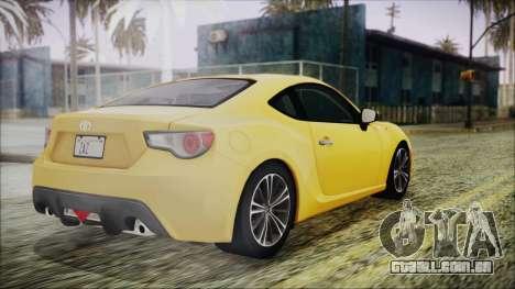 Toyota GT86 (ZN6) 2012 HD Algeria PJ para GTA San Andreas esquerda vista