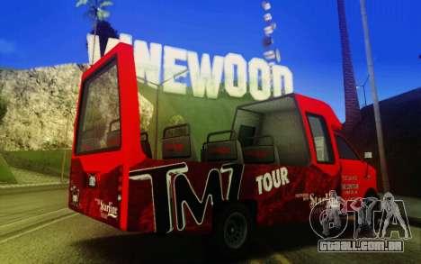 TMZ Tourbus para GTA San Andreas traseira esquerda vista