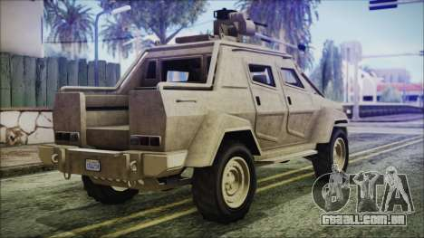 GTA 5 HVY Insurgent Pick-Up para GTA San Andreas esquerda vista