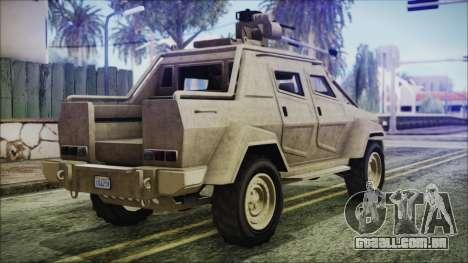 GTA 5 HVY Insurgent Pick-Up para GTA San Andreas esquerda vista