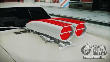 Ford Mustang Fastback 1966 Chrome Edition para GTA San Andreas vista traseira
