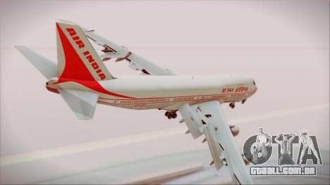 Boeing 747-237Bs Air India Chandragupta para GTA San Andreas esquerda vista