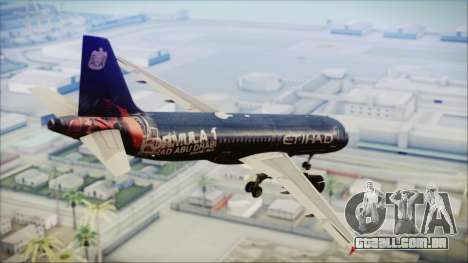 Airbus A320-200 Etihad Airways Abu Dhabi Grand para GTA San Andreas esquerda vista