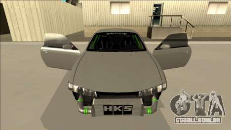 Nissan Silvia S14 Drift Monster Energy para GTA San Andreas vista superior