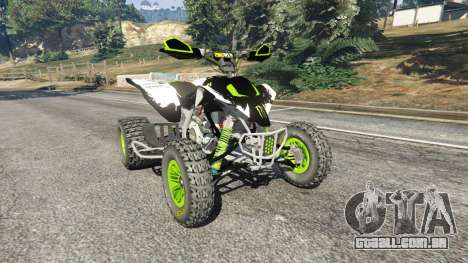 Yamaha YZF 450 ATV Monster Energy para GTA 5