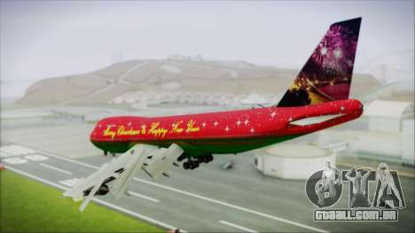 Boeing 747-100 Merry Christmas and Happy NY para GTA San Andreas esquerda vista