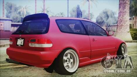 Honda Civic EG6 Hellaflush para GTA San Andreas esquerda vista