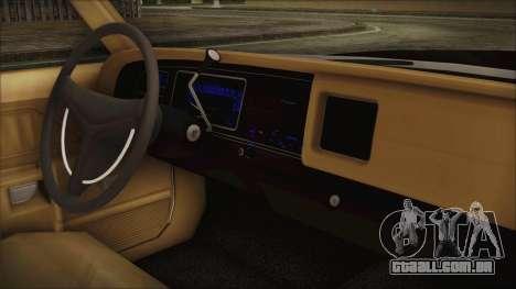 Dodge Monaco 1974 SFPD para GTA San Andreas vista direita