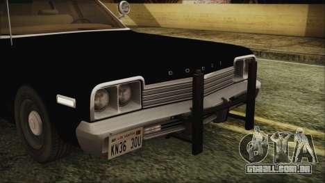 Dodge Monaco 1974 LVPD IVF para GTA San Andreas vista interior