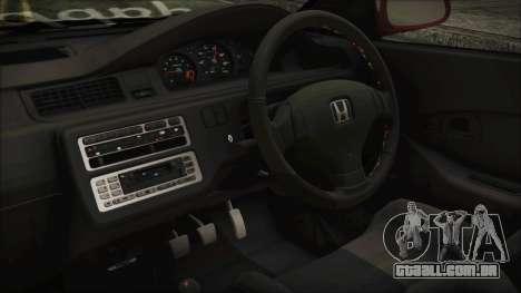 Honda Civic EG6 Hellaflush para GTA San Andreas vista direita