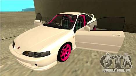 Honda Integra Drift para vista lateral GTA San Andreas