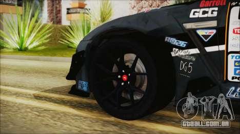 Nissan GT-R R35 Naoto para GTA San Andreas traseira esquerda vista