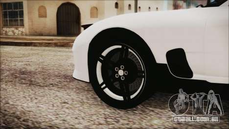 Mazda RX-7 Enhanced Version para GTA San Andreas traseira esquerda vista