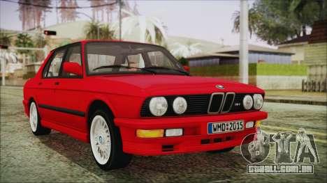 BMW M5 E28 1988 para GTA San Andreas