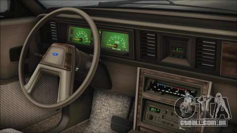 Ford LTD LX 1986 para GTA San Andreas vista direita