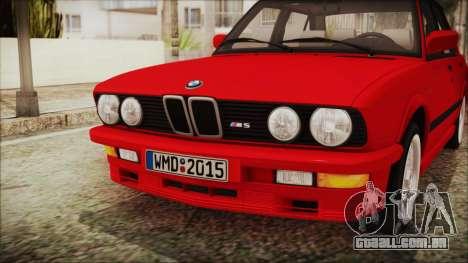BMW M5 E28 1988 para GTA San Andreas vista traseira
