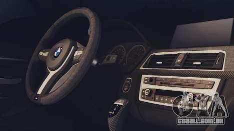 BMW M3 F30 SEDAN para GTA San Andreas traseira esquerda vista