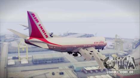 Boeing 747-237Bs Air India Harsha Vardhan para GTA San Andreas esquerda vista