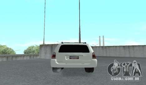 Toyota 4runner 2008 semi-off_road LED para GTA San Andreas vista direita