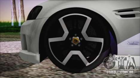 Holden Commodore SS Ute 2012 para GTA San Andreas traseira esquerda vista