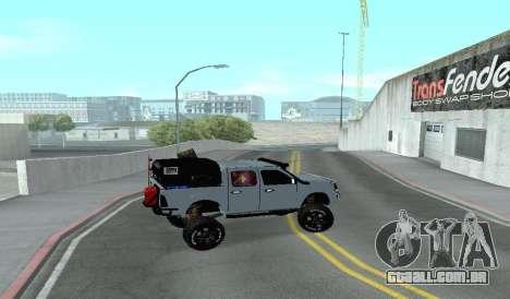 Chevrolet Luv D-MAX 2015 FORA-de-ESTRADA, TODO-o para GTA San Andreas esquerda vista
