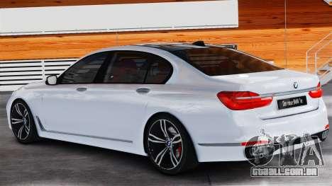 BMW 7-er 2016 v2.0 para GTA 4 esquerda vista