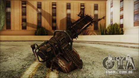 Fallout 4 Shredding Minigun para GTA San Andreas segunda tela