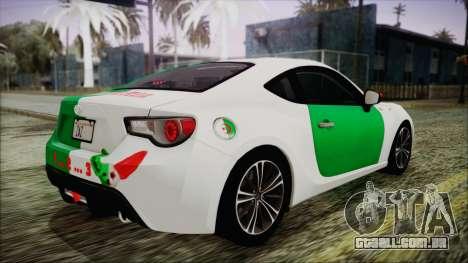 Toyota GT86 (ZN6) 2012 HD Algeria PJ para GTA San Andreas interior