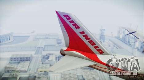 Boeing 747-237Bs Air India Harsha Vardhan para GTA San Andreas traseira esquerda vista