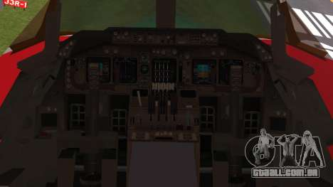 Boeing 747-100 Merry Christmas and Happy NY para GTA San Andreas vista traseira