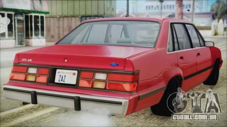 Ford LTD LX 1986 para GTA San Andreas esquerda vista