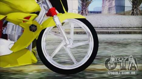 Yamaha Tuning Full Cromo para GTA San Andreas traseira esquerda vista
