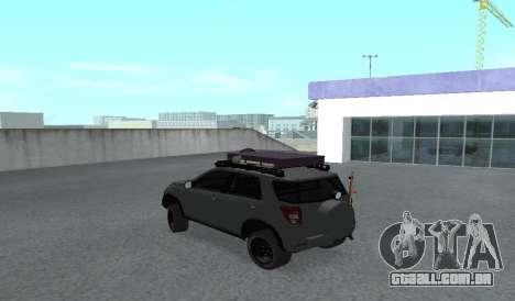 Toyota Terios 2009 FORA-de-ESTRADA de LAMA-o-TER para GTA San Andreas vista direita