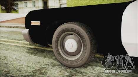 Dodge Monaco 1974 SFPD IVF para GTA San Andreas traseira esquerda vista