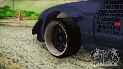 Nissan 180SX Rocket Bunny Edition para GTA San Andreas traseira esquerda vista