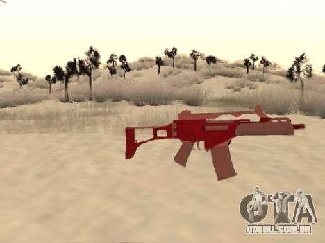 Natal G36c camo para GTA San Andreas terceira tela